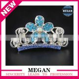 Gorgeous crystal bridal flower hair accessories metal side hair combs for princess
