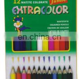"3.5"" 12Ct Short Colored Pencils - Hexagon - Kids Choice"