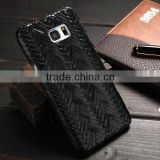 Newest Phone Case for Samsung Galaxy S6 Edge, High Quality Weave Pattern PU Leather Phone Cover for Samsung Galaxy S6 Edge Plus