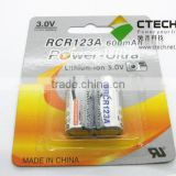 rcr123a 3v rechargeable battery lithium