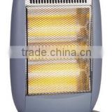 3heat settings 1200W wide angle oscillating function safety tip over swtich electric halogen heater