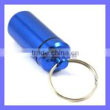 Rubber Seal Screw Cap Alloy Metal Keychain Small Bottle