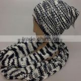 100% acrylic knit hat scarf sets for sale