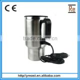 12V car travel mug ,rapid heating Coffee glass cup