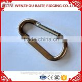2016 popular Gun matt Pewter aluminium snap hook good quality with factory price