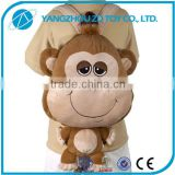 Hot sale new style lovely fashionable high quality stuffed toy plush backpack toy monkey
