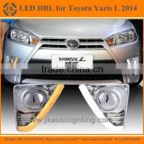 High Quality Electrofacing Cover LED DRL Light for Toyota Yaris Super Bright Daytime Running Lights LED for Toyota Yaris 2014