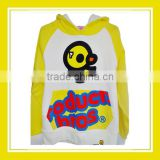 2016 Fashion Products Bros Bros Duck Women Printed Yellow Long Sleeve White Sweater Hoodie