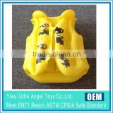 EN71 6P PVC Kids Promotional PVC Inflatable life jacket