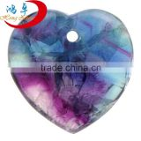 Crystal Collection Jewelry Amethyst Heart Shape Gemstone Energy Pendant