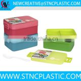 3 compartments plastic lunch box 2 layers 1000ml                                                                                                         Supplier's Choice