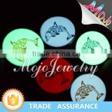 Fashion Jewelry Wholesalers with Digital Printing Animal Dolphin Pattern Glow In the dark Charm