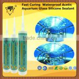 Fast Curing Waterproof Acetic Aquarium Glass Silicone Sealant
