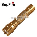 ShenZhen SupFire M4 LED tactical flashlight torch with CE for hiking and waterproof (one 18650 rechargeable battery )