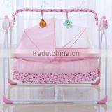 Automatic swing baby bed , safety cot playpen, rocking crib with solid moisquito net                                                                         Quality Choice