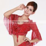 Classic Sexy Red Flare Sleeve Belly Dance Top corset dance top