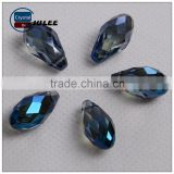 Dark blue fashion diy glass beads jewelry making teardrops beads in bulk