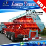 Heavy duty construction building use side turn unloading 40-120cbm Three axles 110ton side tipper semi trailer in truck trailer