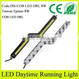 Guangzhou auto accessories market aluminum alloy body 12v slim cob led drl for toyota innova