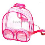 Custom Printed High Quality Eco-friendly Transparent PVC Children's Gift Backpack Shoulders bag