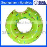 customized PVC inflatable donut float pool ring