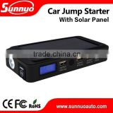 portable battery charger 14000 mah car jump starter with solar panel for charging in the sunlights
