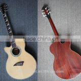 Left Hand Abalone Binding All Solid wood Acoustic Guitar