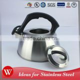Hinged spout and a convenient whistle non-electric tea kettle stainless steel whistling kettle