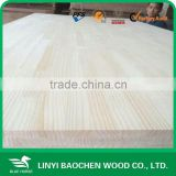 Manufacture 12mm decorating solid wood panel/Linyi wooden factory / finger joint panel, board