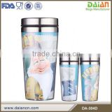 Timely Service promotion paper insert travel plastic mug cup