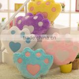 star bear heart shape plush color luminous LED hold pillow toy