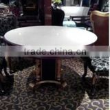 Furniture Lobby round dinning table set modern marble