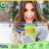 Biodegradable big size rice husk paper fiber coffee cup