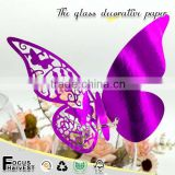 B17 New Butterfly place card Laser Cut wedding bar pub party for wine glass table decoration