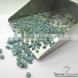 High Quality Opaque Clarity Natural Greenish Blue Rough Diamond Drilled Beads