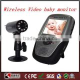 Best Care Baby 2.5 Inch Portable Digital Wireless baby monitor Video Talk Camera IR night vision Black Support SD / MMC Card