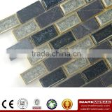Imark Crackle Glazed Ceramic Mix Slate Marble Stone Mosaic Tile For bath Bathroom Wall Tile