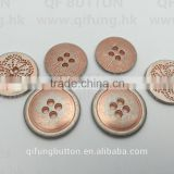 Hot Sell Rose Gold Alloy 4 Holes Button