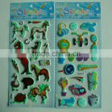 hot sell PVC illuminated glitter stickers glowing at night
