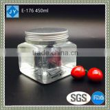 83mm 15oz PET Plastic Type and Canned Food Use transparent kitchen storage jar honey container