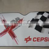 Universal Customized car front sunshade/PE foam/PE bubble of colorful printing logo