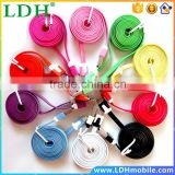 1M V8 Micro USB Data Line Colorful Noodle Flat 1.6A Charging Cable Mobile Phone Accessory for Htc Nokia LG Motorola etc