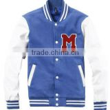 white & blue autumn children baseball jackets