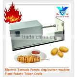 Electric Stainless Steel spiral Potato chips machine, Twisted Potato Slicer, Spiral Vegetable Cutter French Fry