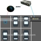 Wireless smart parking lot sensor parking space occupation status indicator for parking management system