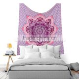Indian Ombre Lotus Bedding Psychedelic Mandala Wall Hanging Ethnic Tapestry Bohmian Wall Decor Bedspread