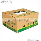 hot sale corrugated paper banana packaging box made in shanghai