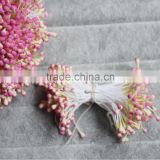 6.5CM long double mixed color tips side round artificial flower stamen sugar craft cake around floral Pistils