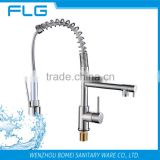 Nickel Brush UPC Pull Down Kitchen Sink Led Faucet Mixer FLG2087A