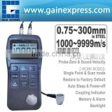MITECH MT150 Ultrasonic Thickness Gauges with 4.5 digits LCD with EL back light 0.75~300mm